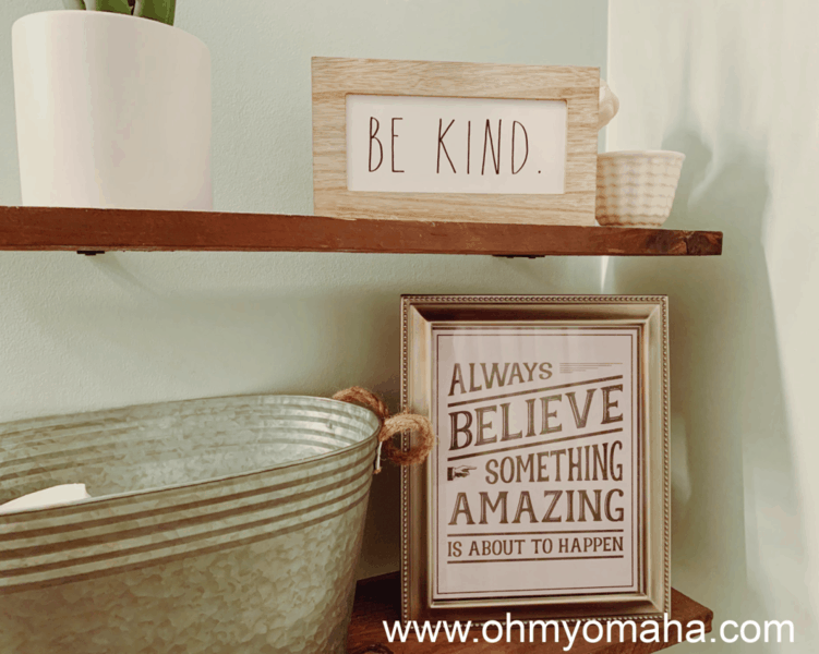 """Framed print from The Anastacia Co. """"Always believe something amazing is about to happen."""""""