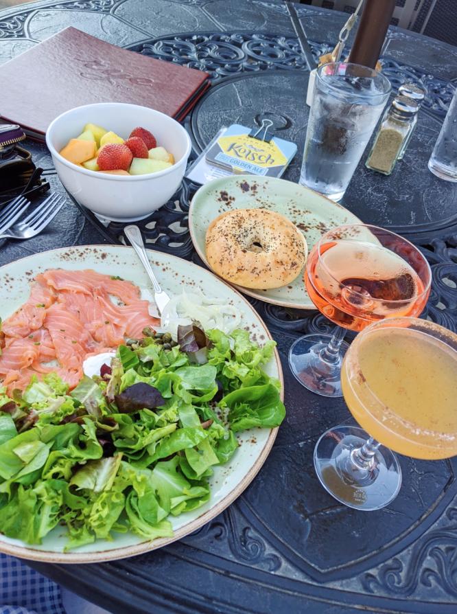 A brunch spread at Rye, a restaurant in Kansas City
