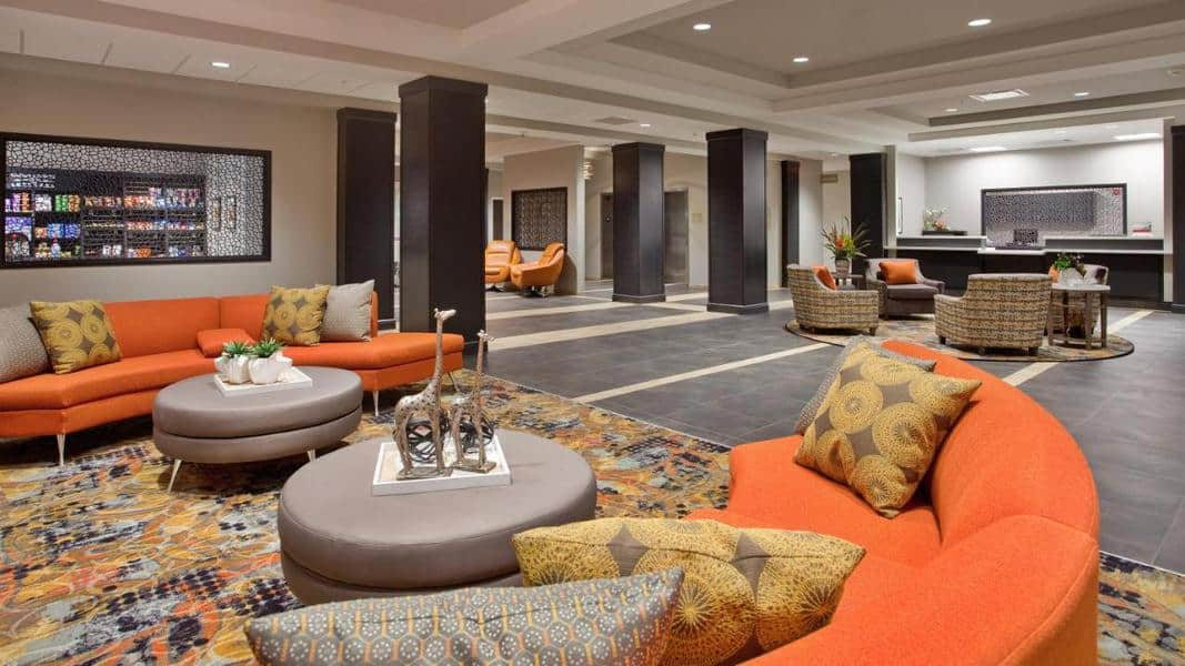 interior of the Candlewood Suites in Kearney, Nebraska.  It's a great hotel to stay at if you're planning on viewing the Sandhill Cranes at the Rowe Sanctuary and Audubon Center.