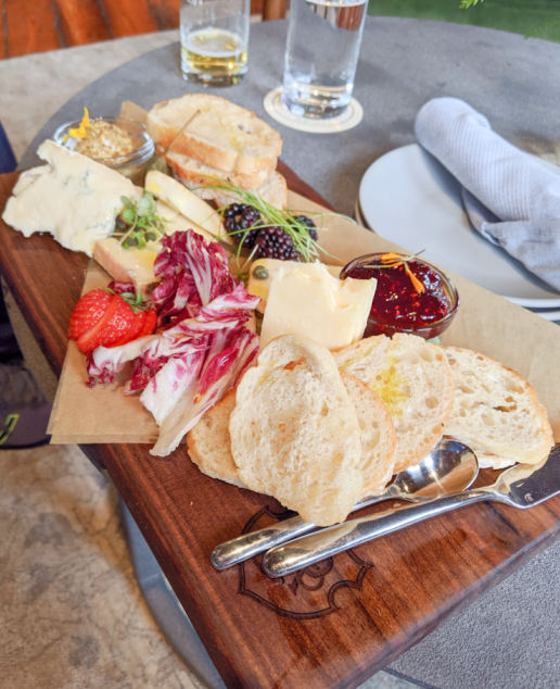 Cheese board at Monogram Lounge at the J. Geiger Co. distillery.