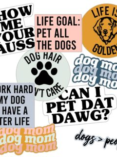 Dog Stickers By Oakley Ray on Etsy