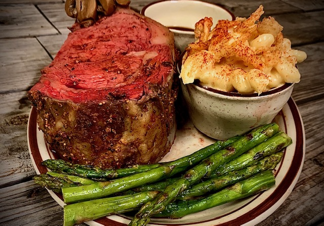 The Round The Bend Cut is a 32-oz prime rib.