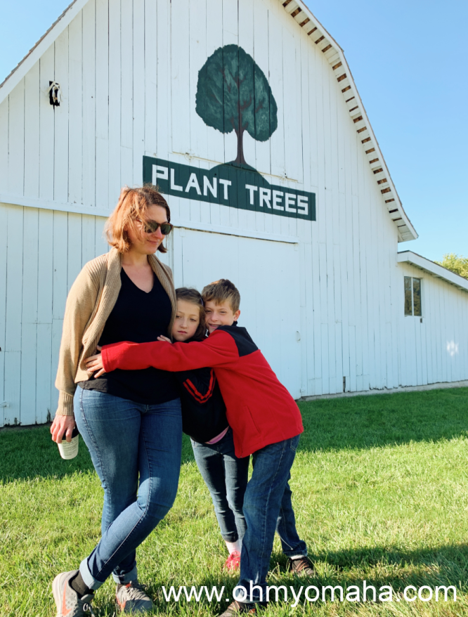 """Arbor Day is a day spent encouraging people to plant more trees. This """"Plant Trees"""" barn is in Nebraska City."""