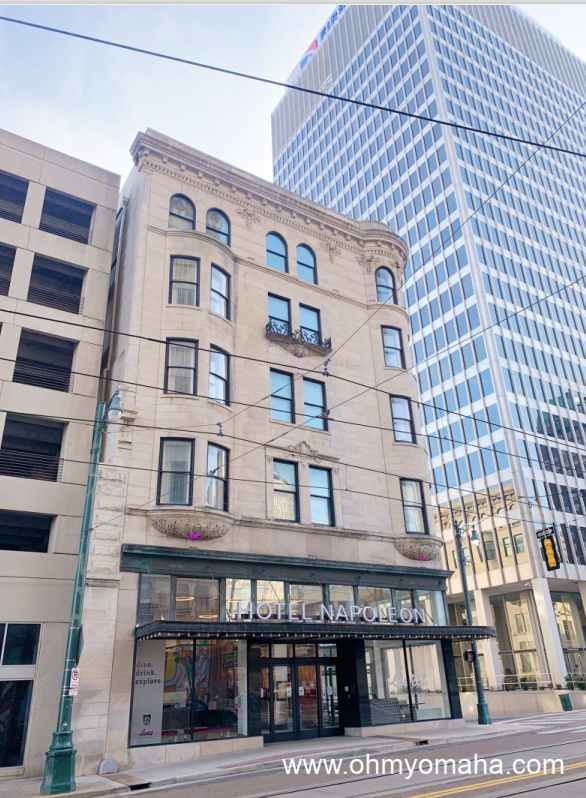 The Hotel Napoleon exterior. The hotel is located in downtown Memphis.