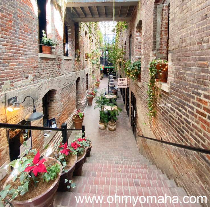 One of the most photographed spaces in Omaha, the Passageway in the Old Market.