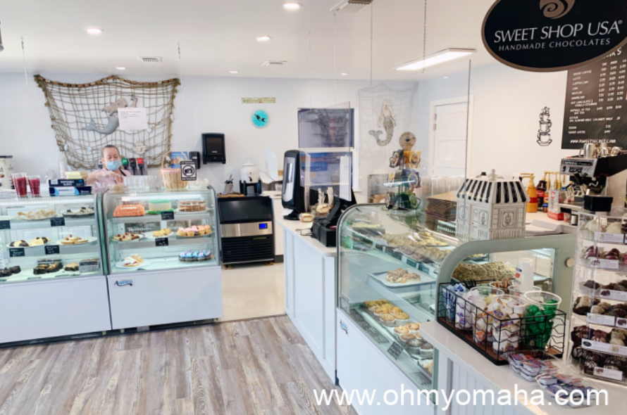 The interior of the family-owned Sweet Secret Bakery & Cafe in Gulf Shores, Alabama.