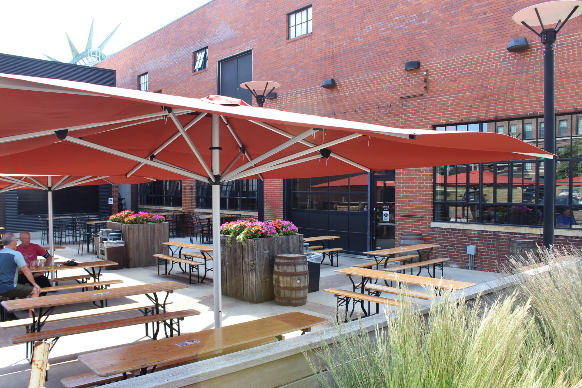 The spacious patio at Exile Brewing Co. in Des Moines is a modern day bier garden.