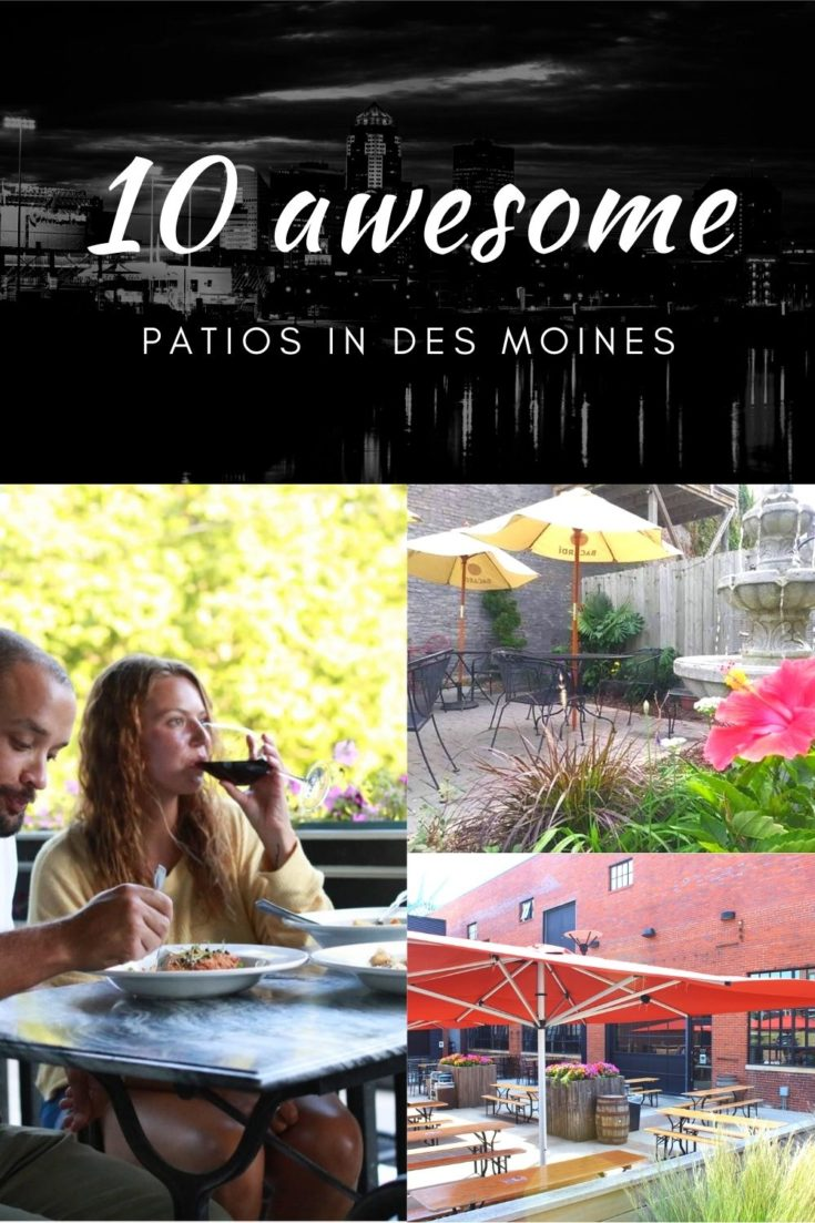 Dine outdoors in Des Moines at these great patios! Favorites include restaurants like Aposto and the offbeat Mullets and El Bait Shop.