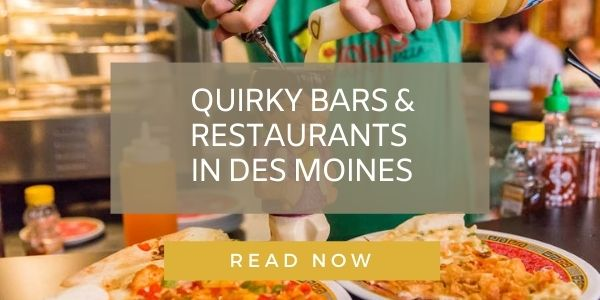Des Moines quirky bars and restaurants graphic