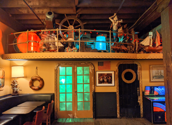 Interior of The Ship, a cocktail bar in Kansas City