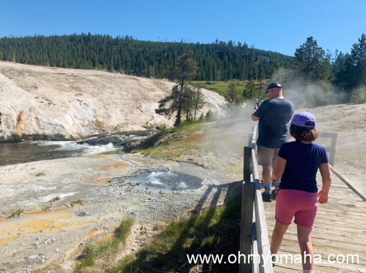 Exploring other geological features located near Old Faithful