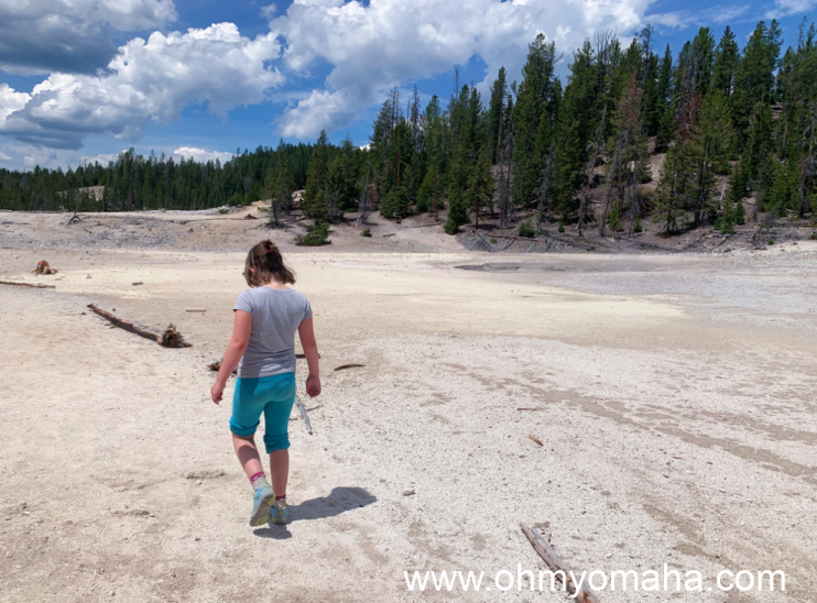 The barren terrain found along the trail between Clear Lake and Lily Pad Lake in Yellowstone.