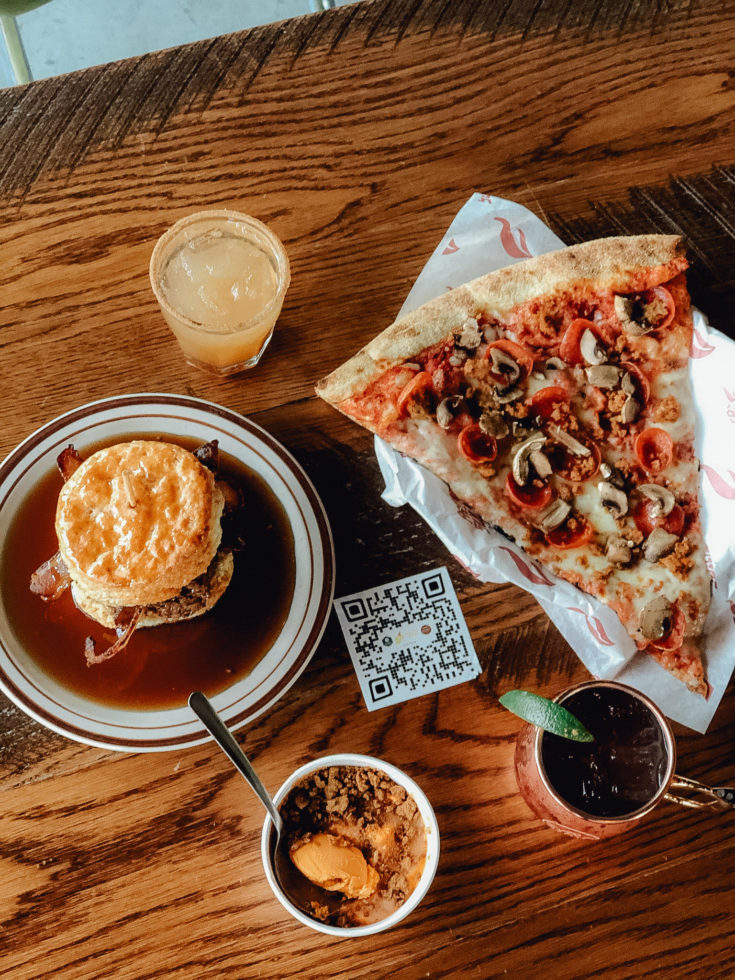 Four restaurant concepts serve food at Atomic Cowboy in Kansas City.