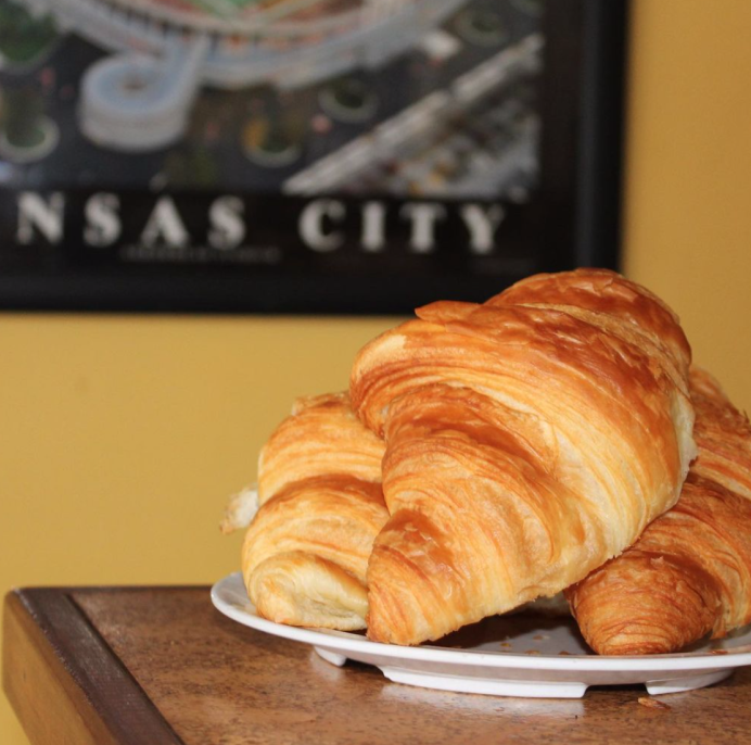 The Pesto Aioli Croissant at Equal Minded Cafe in Kansas City