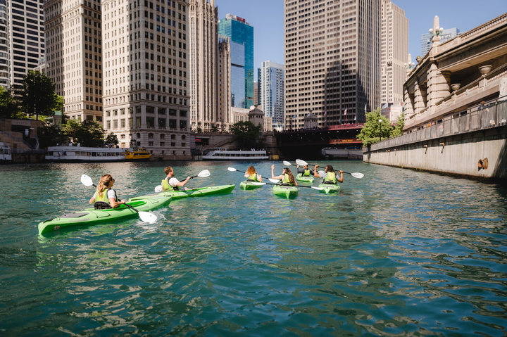 Kayakers on the Chicago River