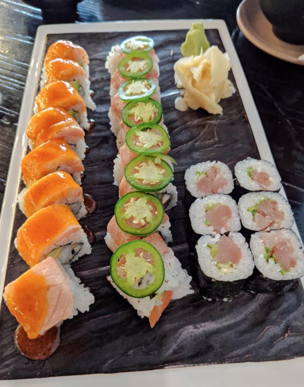 Sushi plate at Sayachi, an under-the-radar restaurant in Kansas City