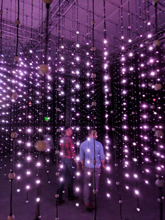 """Men walking through """"Submergence"""" at Wonderspaces in Phoenix."""