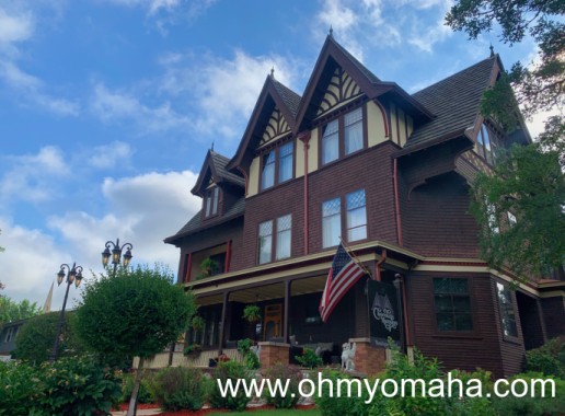 Exterior of the Chocolate Mansion in Sioux City, Iowa
