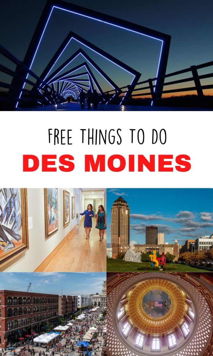 Des Moines can be a budget-friendly getaway for families or couples! Here are some of the fun indoor and outdoor things to do in the Iowa capital - and they're free!
