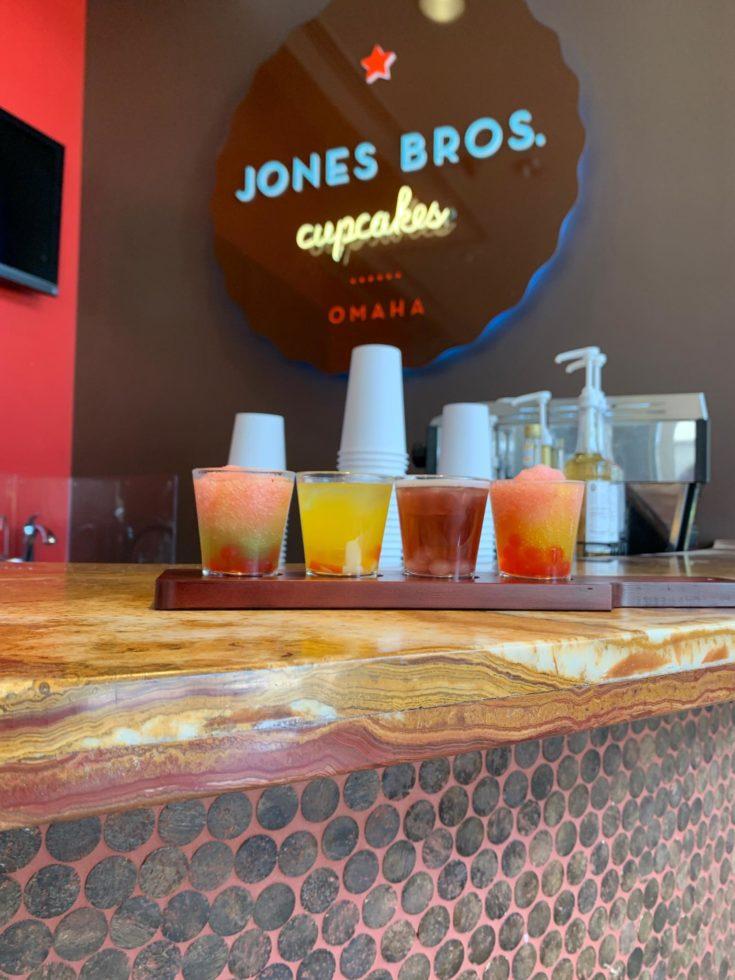 A flight of boba drinks at Jones Bros. Co. at Aksarben Village