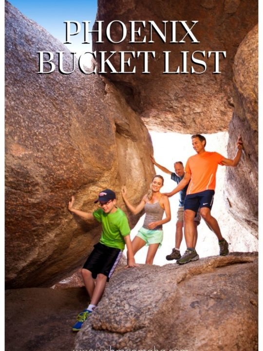 An epic bucket list for Phoenix Arizona, with gorgeous places to see and unforgettable experiences to have at least once