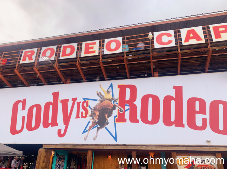 Sign at the Cody Stampede Rodeo