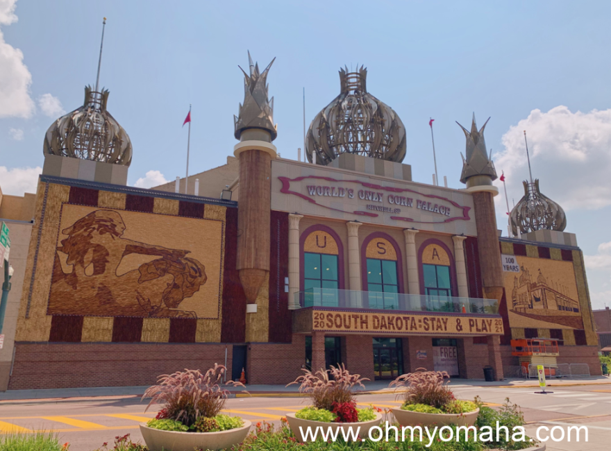Exterior of the Corn Palace in Mitchell, South Dakota.