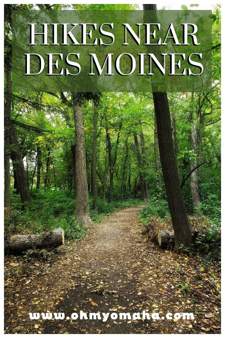 Seven easy hiking trails around the Des Moines, Iowa metro area - including some near a river and one near a heard of bison at Jester Park!
