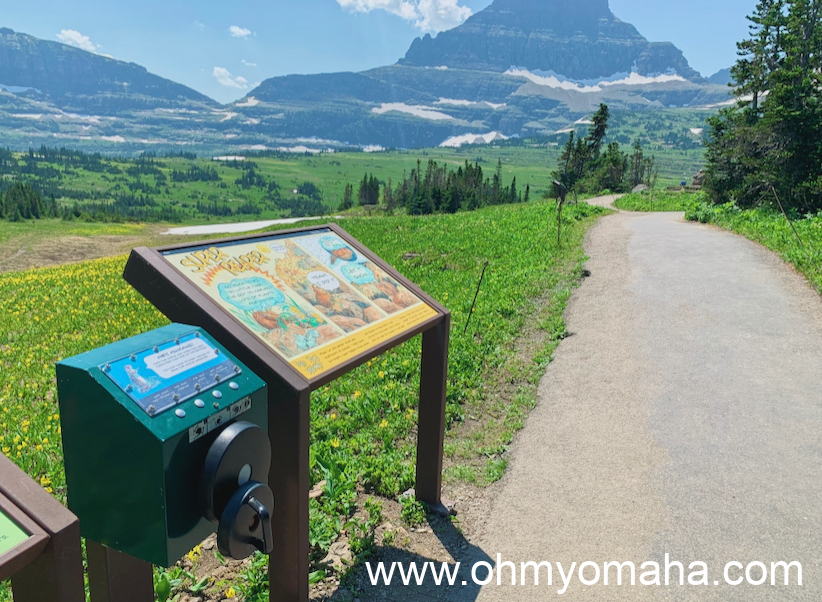Hand-crank station along the Visitor Center's trail at Logan Pass