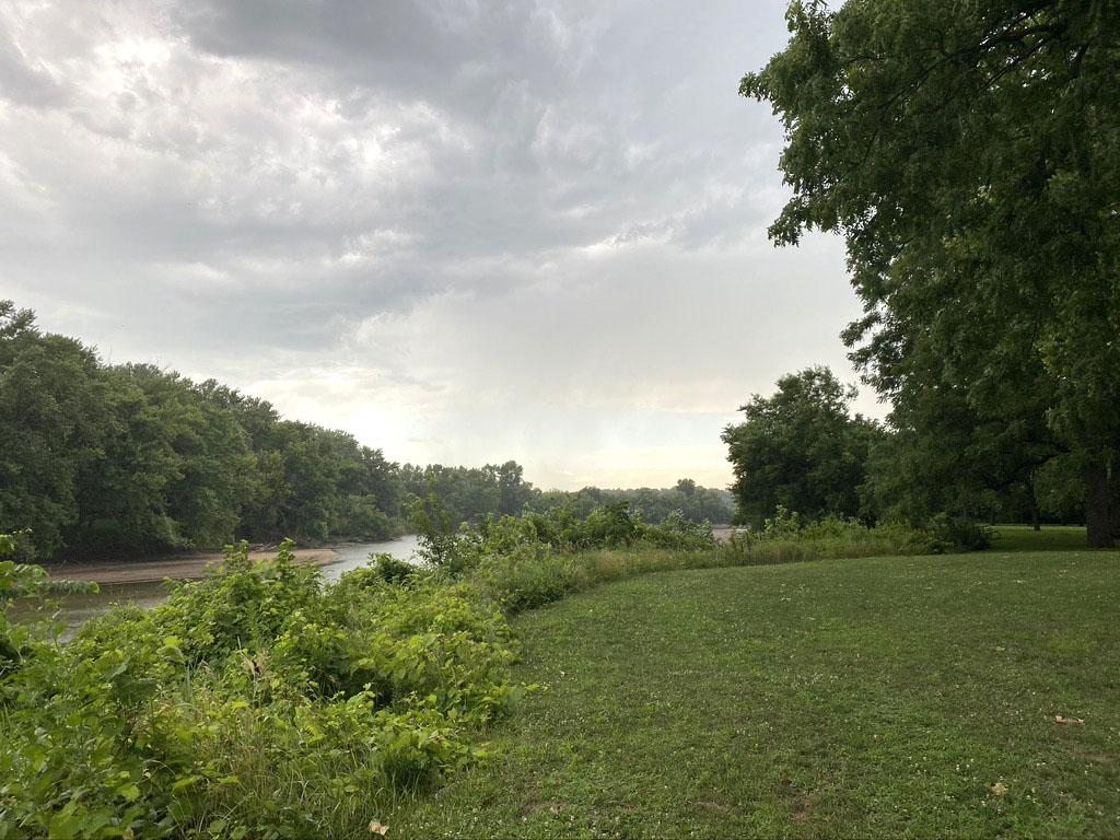 Walnut Woods State Park in West Des Moines, Iowa