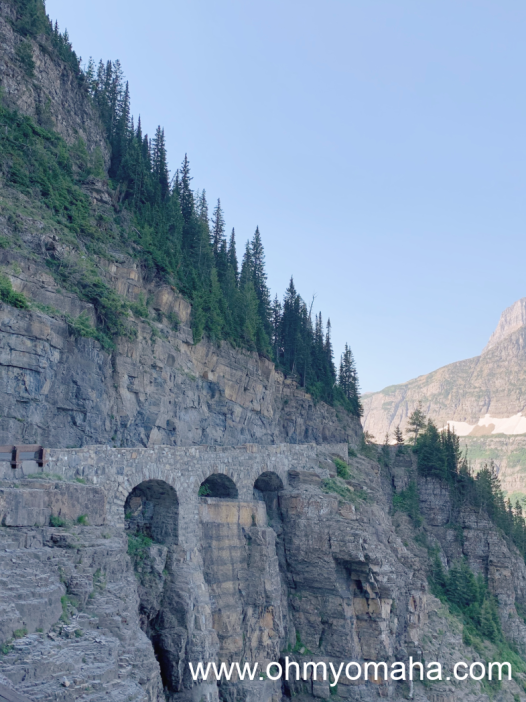 Triple Arches on the Going-to-the-Sun Road in Glacier National Park.