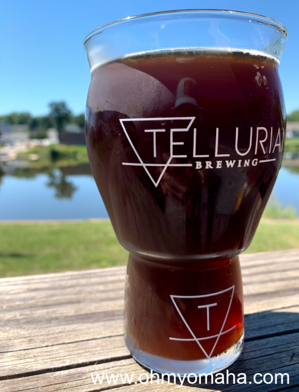 Brown ale from the Charles City brewery, Tellurian Brewing, is on tap at the Pub on the Cedar in Charles City, Iowa.