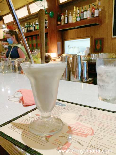 Boozy milkshake a Fizzy's Fountain & Liquor in downtown Omaha