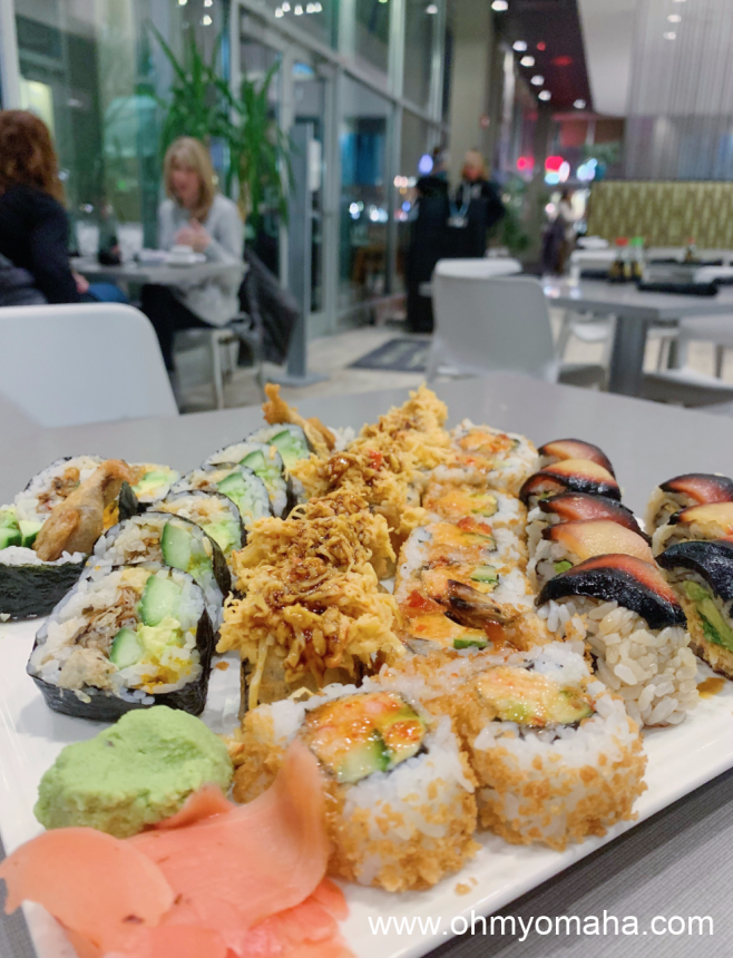 A sushi platter at Ponzu in Omaha