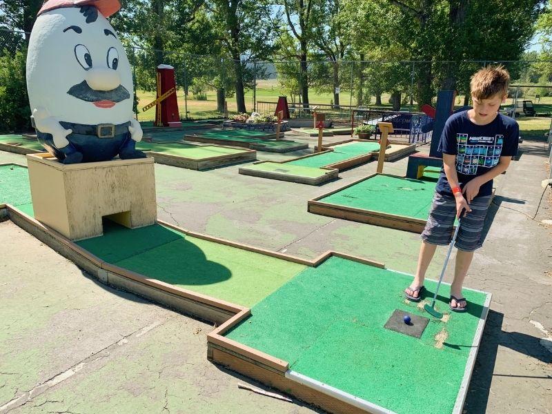 Miniature golf at Fairmont Hot Springs Resort