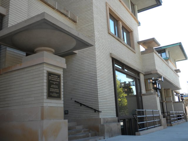 Exterior of Historic Park Inn Hotel, the last remaining Frank Lloyd Wright hotel in the world that welcomes guests