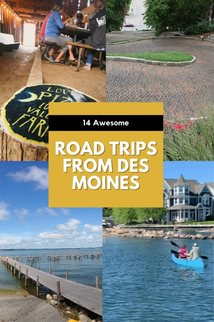 Plan a day trip or weekend road trip from Des Moines, Iowa, with inspiration from this list! Easy getaways found in Iowa, Missouri, Illinois and Nebraska.