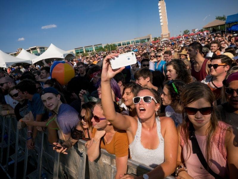 Fans at MAHA Music Festival